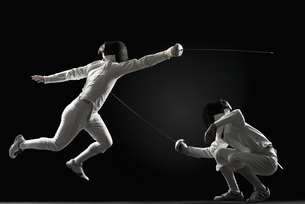 Fencers fencingの写真素材 [FYI04322672]