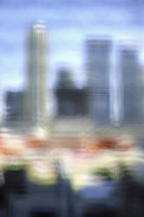 Multi-layered image of buildings in cityの写真素材 [FYI04322822]