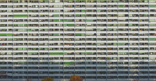 Full frame shot of residential building, Stuttgart, Baden-Wuerttemberg, Germanyの写真素材 [FYI04322926]