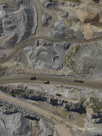 Full frame shot of open-pit mineの写真素材 [FYI04322932]