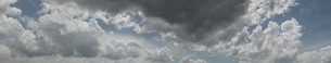 Panoramic shot of cloudy skyの写真素材 [FYI04323210]