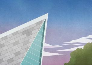 Sharp angle of modern house roofのイラスト素材 [FYI04323705]