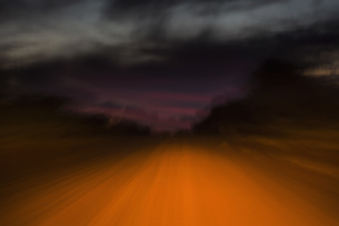 Long exposure ethereal road and skyの写真素材 [FYI04324184]
