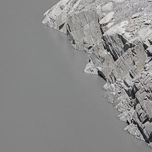 Lake Albigna, Lago dell'Albigna Reservoir, Bregaglia, Graubuenden, Switzerlandの写真素材 [FYI04324216]