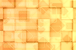 四角形の模様と並ぶ二進法 CGのイラスト素材 [FYI04330358]