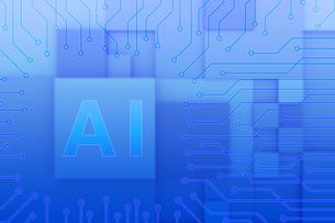 AIの文字とネットワークイメージ CGのイラスト素材 [FYI04330359]