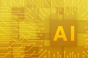 AIの文字とネットワークのイメージ CGのイラスト素材 [FYI04330360]