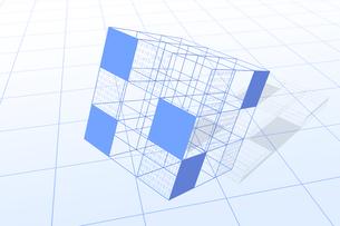 立方体と二進法 CGのイラスト素材 [FYI04330377]