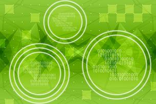 円に囲まれた二進法と四角形の模様 CGのイラスト素材 [FYI04330385]