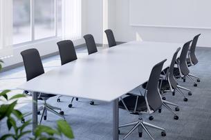 会議室のテーブルと椅子 3DCGのイラスト素材 [FYI04330387]