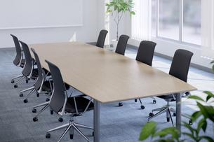 会議室のテーブルと椅子 3DCGのイラスト素材 [FYI04330389]