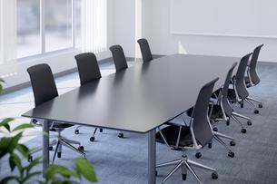 会議室のテーブルと椅子 3DCGのイラスト素材 [FYI04330391]