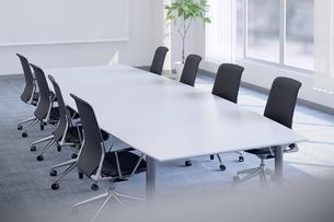 会議室のテーブルと椅子 3DCGのイラスト素材 [FYI04330392]