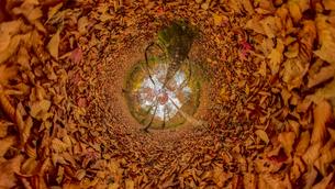 群馬県奥利根の紅葉の360度風景写真の写真素材 [FYI04330409]