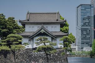皇居 桜田巽櫓の写真素材 [FYI04330445]