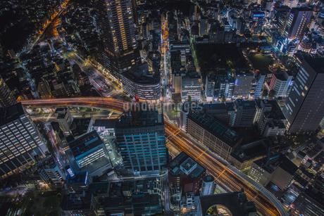 東池袋周辺の街並みの夜景の写真素材 [FYI04330640]