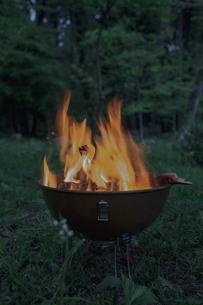 焚火の炎の写真素材 [FYI04330658]