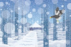 雪景色の中尊寺 イラストのイラスト素材 [FYI04330725]