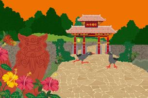 守礼の門 イラストのイラスト素材 [FYI04330736]