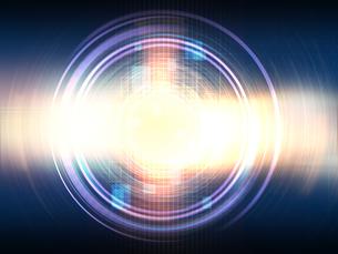 光芒放つ異次元空間の写真素材 [FYI04330802]