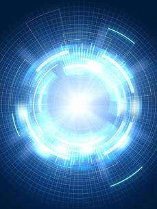 光芒放つ異次元空間の写真素材 [FYI04330813]