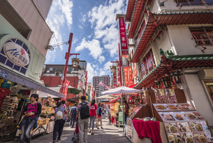 神戸の中華街の写真素材 [FYI04331065]