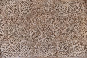 アルハンブラ宮殿 ナスル朝宮殿の装飾の写真素材 [FYI04331348]