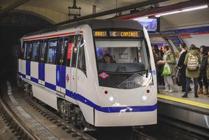 マドリードの地下鉄の写真素材 [FYI04331446]