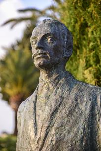 リルケの銅像の写真素材 [FYI04331453]