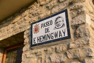 ヘミングウェイ・ツアーの看板の写真素材 [FYI04331476]