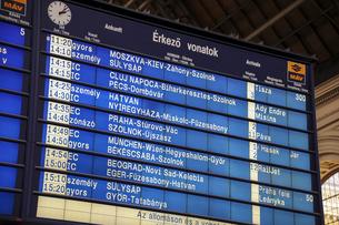駅の時刻表の写真素材 [FYI04331832]