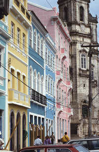 Old town in Salvador, Brazilの写真素材 [FYI04332710]