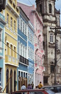 Old town in Salvador, Brazilの写真素材 [FYI04332710]