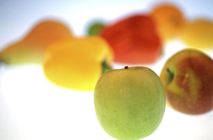 Fruits and Vegetable, close-upの写真素材 [FYI04332720]