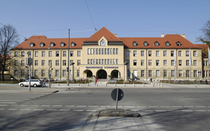 Hospital in Schwabing, Munich, Germanyの写真素材 [FYI04332785]