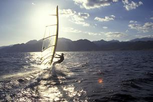 Windsurfer, Dahab, Egyptの写真素材 [FYI04332789]