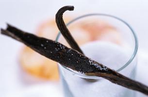Vanilla beans, close-upの写真素材 [FYI04332829]