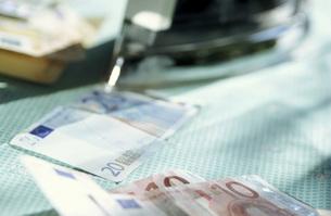 Euro banknotesの写真素材 [FYI04332841]