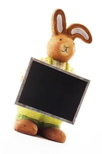 Easter bunny with writing tabletの写真素材 [FYI04332857]