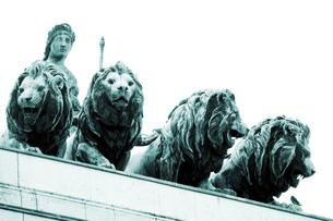 Germany, Bavaria,Munich, Victory Gateの写真素材 [FYI04333119]