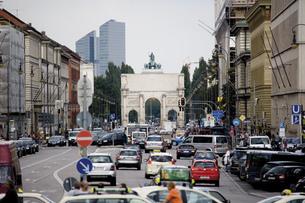 germany, Bavaria, Munich Ludwig streetの写真素材 [FYI04333121]