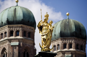 Germany, Bavaria, Munich, St Mary's Columnの写真素材 [FYI04333123]