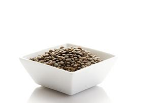 Pardina lentils in bowlの写真素材 [FYI04333139]