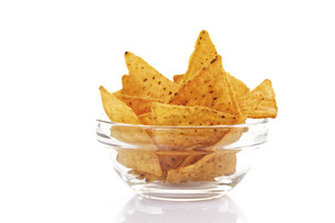 Bowl of nachosの写真素材 [FYI04333203]