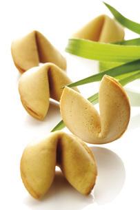 Fortune cookies, close-upの写真素材 [FYI04333204]