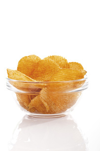 Potato chili chipsの写真素材 [FYI04333276]