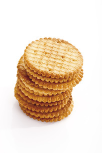 Stacked Cracker, close-upの写真素材 [FYI04333278]