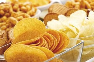Assorted snacks, close-upの写真素材 [FYI04333291]