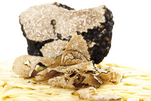 Noodles with Sliced Trufflesの写真素材 [FYI04333304]