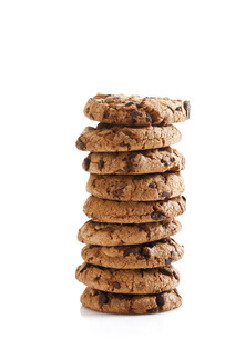 Stacked Chocolate cookiesの写真素材 [FYI04333373]